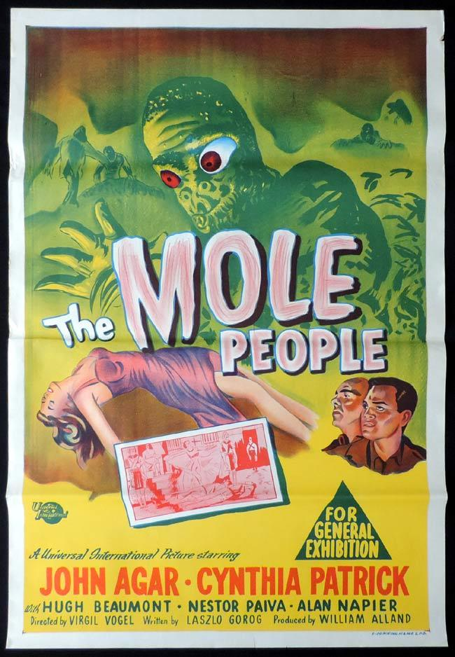 The Mole People, Virgil W. Vogel, John Agar, Cynthia Patrick, Hugh Beaumont, Alan Napier
