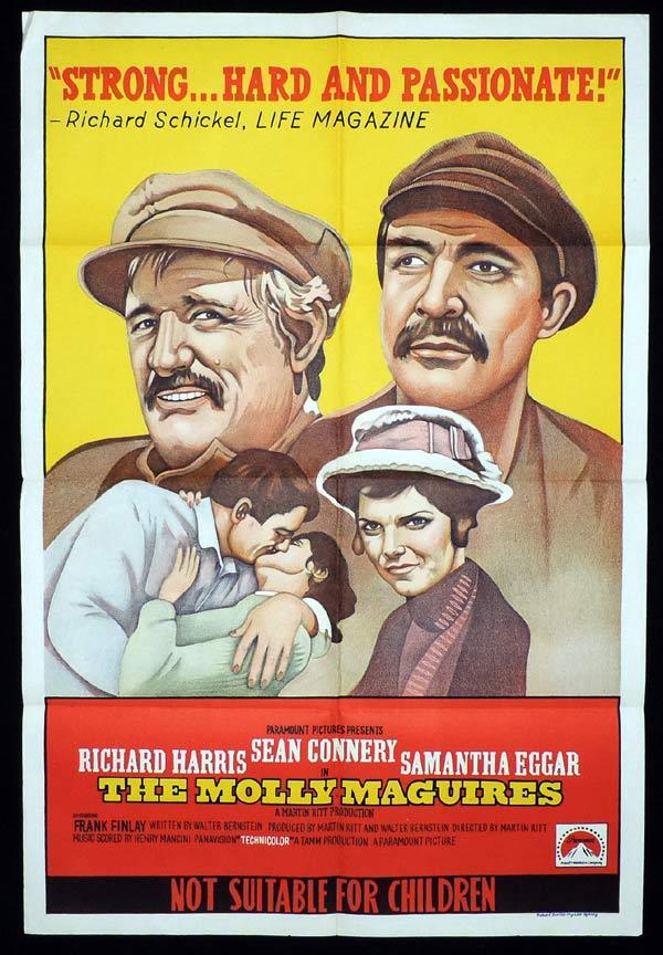 THE MOLLY MAGUIRES One Sheet Movie Poster Richard Harris Sean Connery