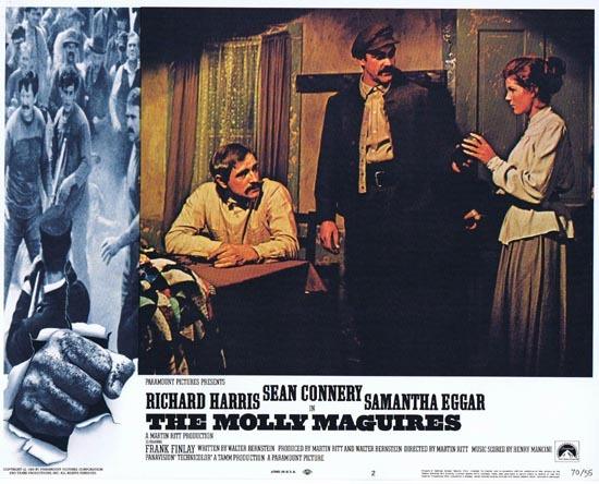 THE MOLLY MAGUIRES Lobby Card 2 1970 Sean Connery Richard Harris