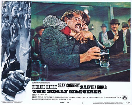 THE MOLLY MAGUIRES Lobby Card 3 1970 Sean Connery Richard Harris