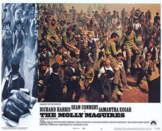 THE MOLLY MAGUIRES Lobby Card 4 1970 Sean Connery Richard Harris