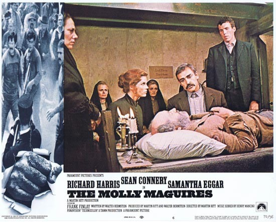 THE MOLLY MAGUIRES Lobby Card 6 1970 Sean Connery Richard Harris