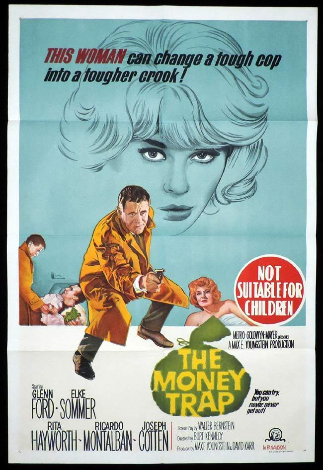 THE MONEY TRAP One Sheet Movie Poster Rita Hayworth Glenn Ford