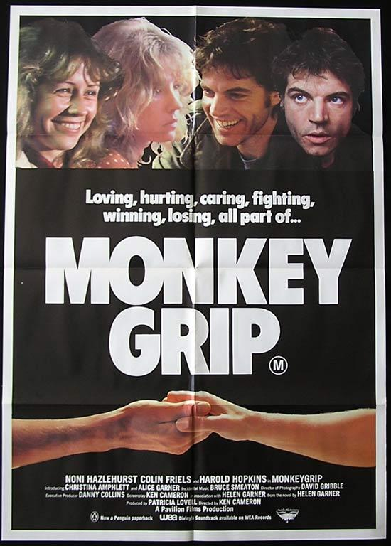 MONKEY GRIP '82 Friels AUSTRALIAN FILM One sheet Movie poster