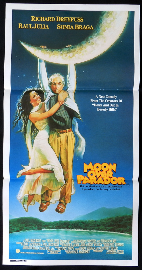 MOON OVER PARADOR Richard Dreyfuss Australian Daybill Movie poster