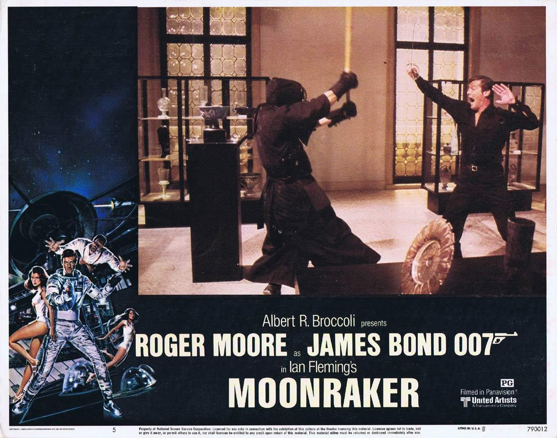 MOONRAKER Original Lobby Card 5 JAMES BOND Roger Moore Lois Chiles