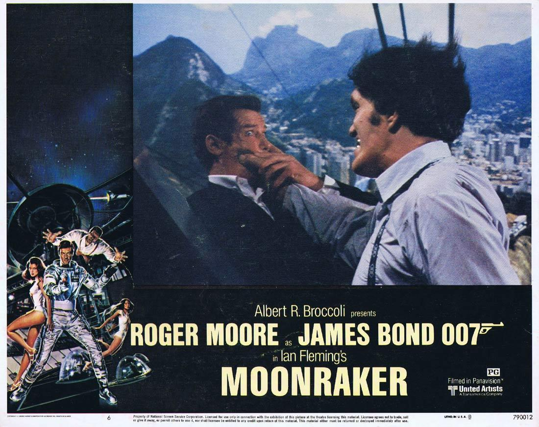MOONRAKER Original Lobby Card 6 JAMES BOND Roger Moore Lois Chiles
