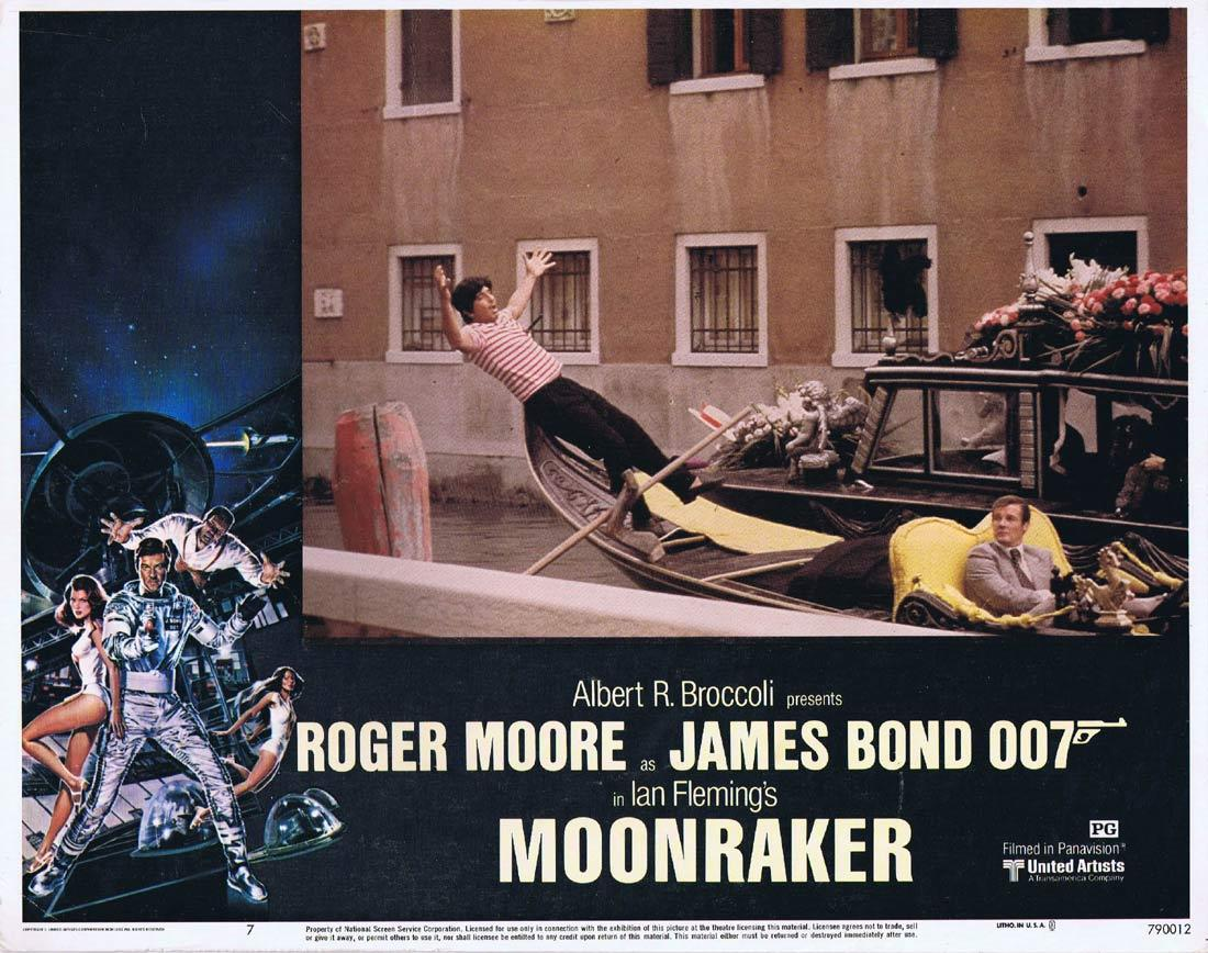 MOONRAKER Original Lobby Card 7 JAMES BOND Roger Moore Lois Chiles