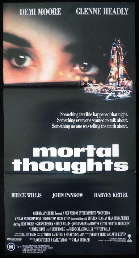 MORTAL THOUGHTS Original Daybill Movie poster