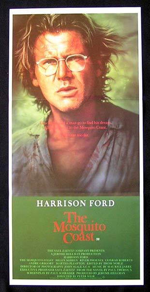 MOSQUITO COAST Original Daybill Movie Poster Harrison Ford Helen Mirren River Phoenix