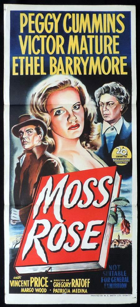 MOSS ROSE Original Daybill Movie Poster Peggy Cummins Film Noir