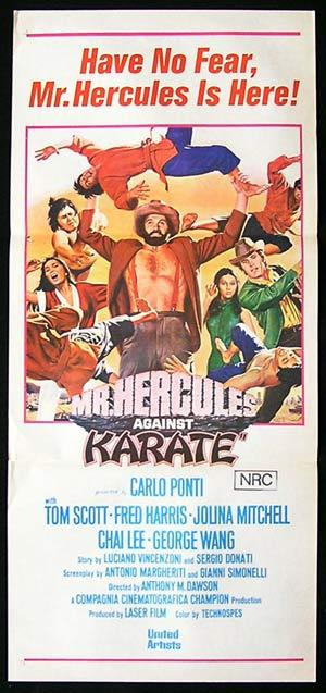 MR HERCULES AGAINST KARATE Daybill Movie poster Antonio Margheriti.