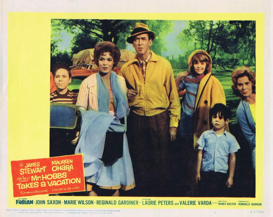 MR HOBBS TAKES A VACATION Original Lobby Card James Stewart Maureen O'Hara