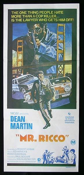 MR RICCO Original Daybill Movie Poster Dean Martin