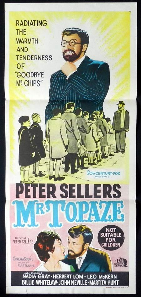 MR TOPAZE Daybill Movie Poster Peter Sellers