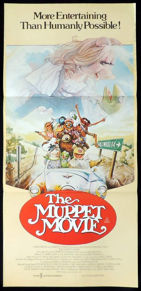 THE MUPPET MOVIE Original Daybill Movie Poster Miss Piggy Kermit the Frog