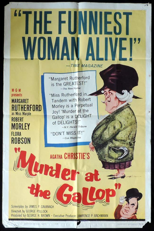 MURDER AT THE GALLOP US One Sheet Movie Poster Margaret Rutherford