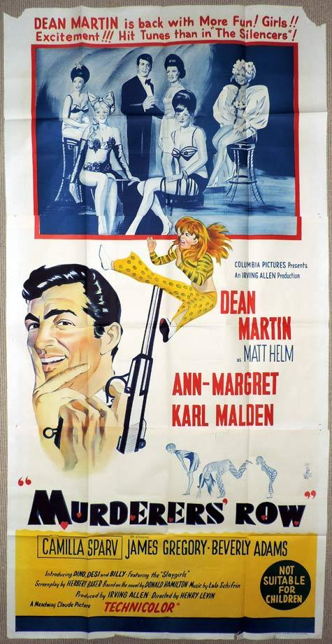 MURDERERS ROW Original 3 Sheet Movie Poster Dean Martin as Matt Helm