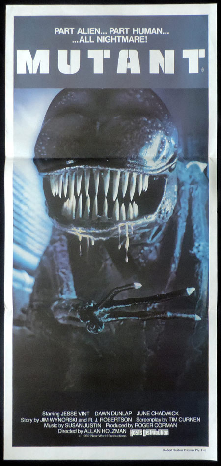 MUTANT Horror Sci Fi Daybill Movie poster