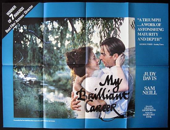 MY BRILLIANT CAREER '79 Sam Neill RARE British Quad poster