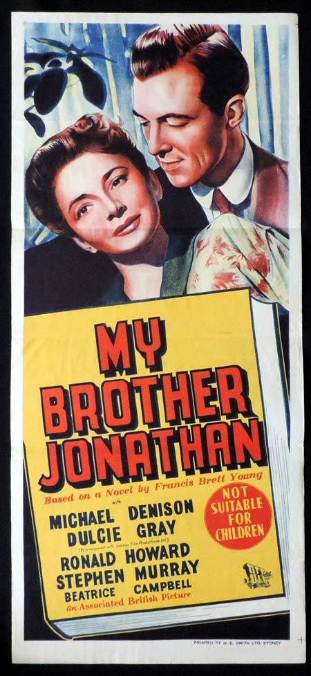 MY BROTHER JONATHAN Original Daybill Movie Poster Michael Denison