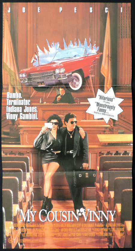 MY COUSIN VINNY Original Daybill Movie poster Joe Pesci