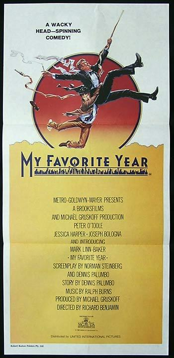 MY FAVORITE YEAR Original Daybill Movie Poster Peter O'Toole