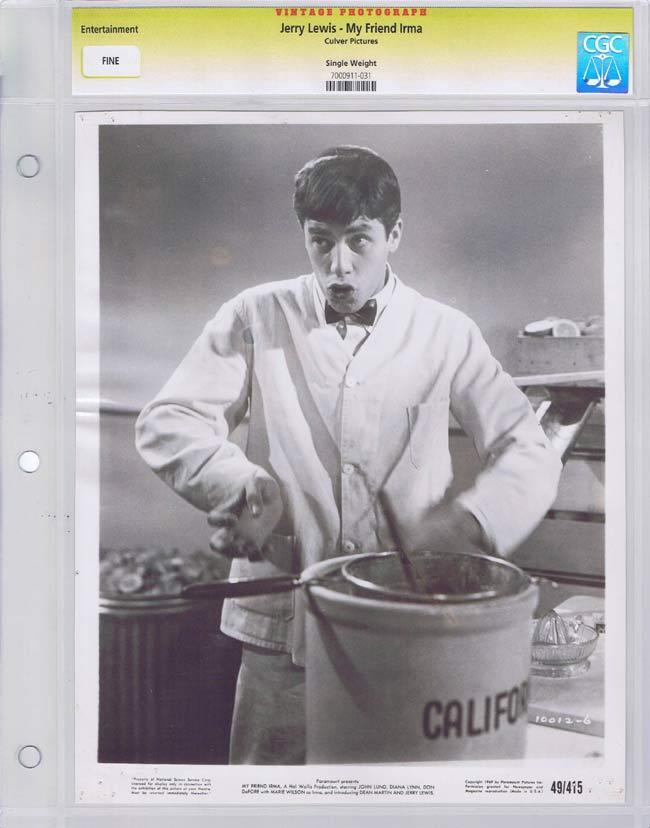 MY FRIEND IRMA Vintage Movie Still JERRY LEWIS CGC Graded