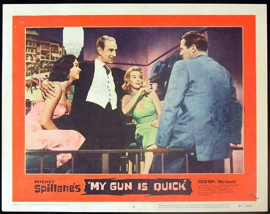 MICKEY SPILLANE'S MY GUN IS QUICK 1957 Mike Hammer RARE Lobby card 6