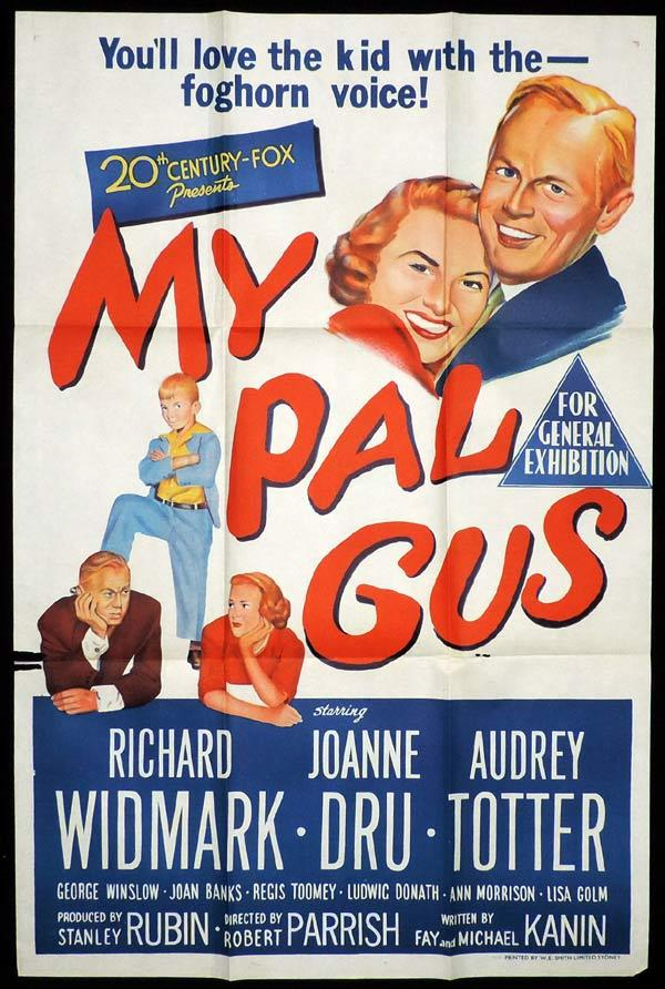 MY PAL GUS One Sheet Movie Poster Richard Widmark Joanne Dru