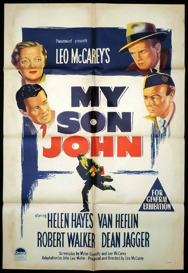 MY SON JOHN One Sheet Movie Poster Leo McCarey
