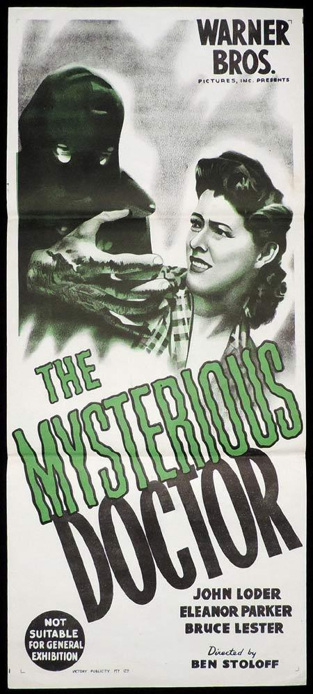 THE MYSTERIOUS DOCTOR Original Daybill Movie Poster John Loder Headless Ghost