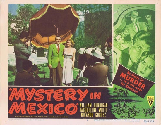 MYSTERY IN MEXICO 1948 Film Noir William Lundigan Lobby Card 2