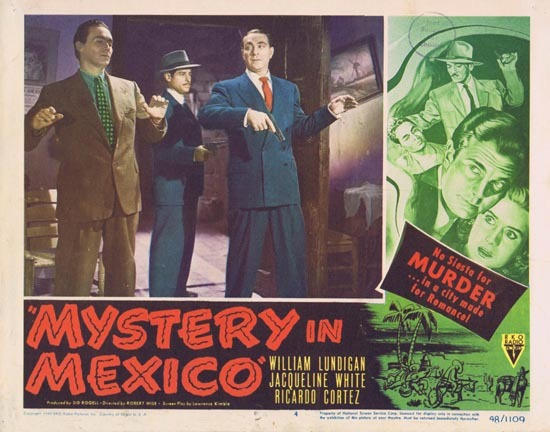 MYSTERY IN MEXICO 1948 Film Noir William Lundigan Lobby Card 5