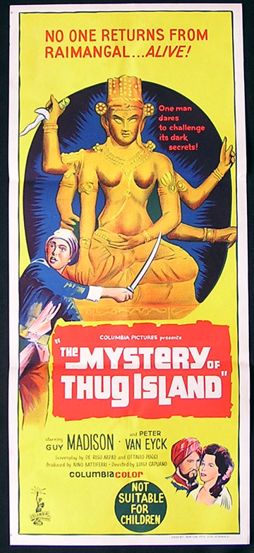 MYSTERY OF THUG ISLAND 1965 Guy Madison RARE Daybill Movie poster