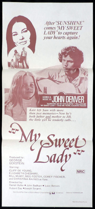 MY SWEET LADY Original Daybill Movie poster John Denver Cliff DeYoung