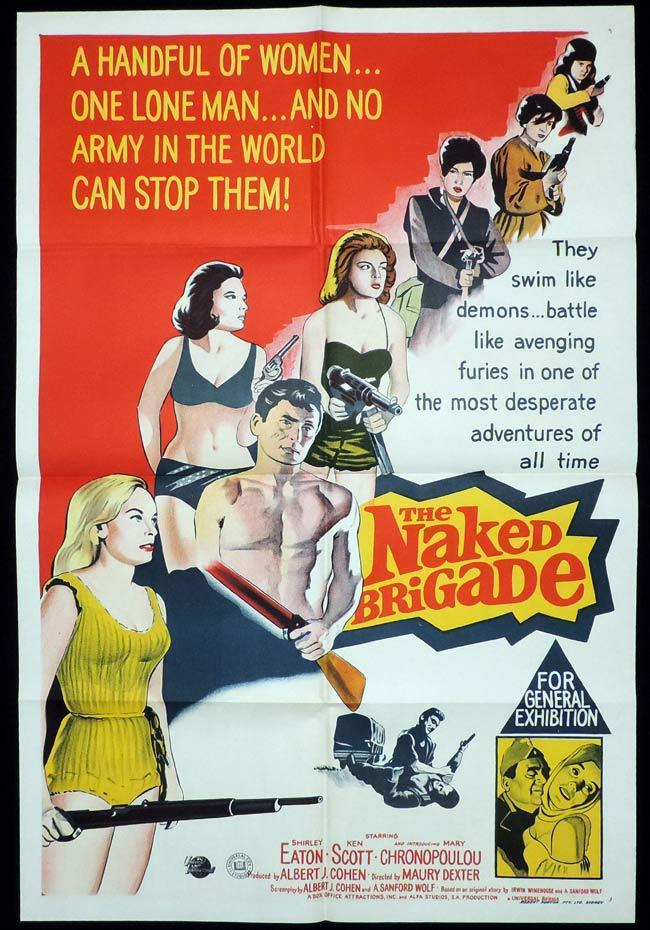 THE NAKED BRIGADE One Sheet Movie Poster Shirley Eaton