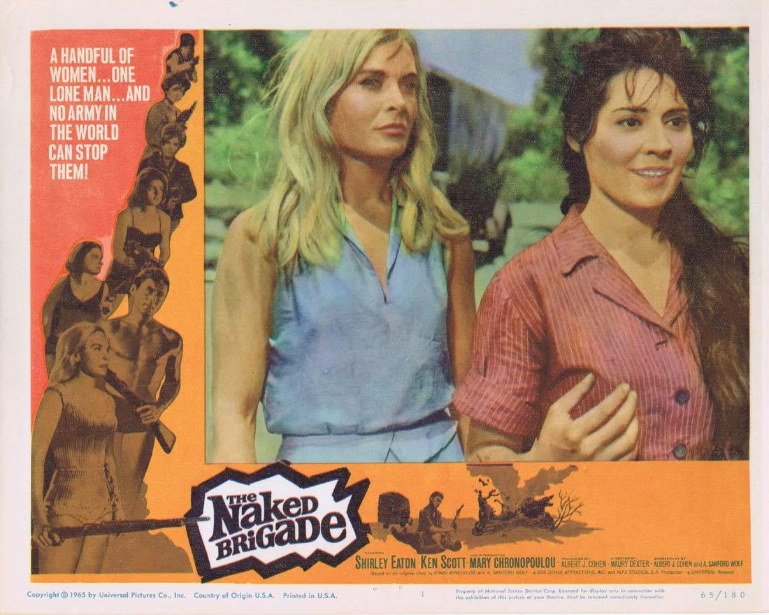 THE NAKED BRIGADE Lobby Card 1 Shirley Eaton Ken Scott Mary Chronopoulou