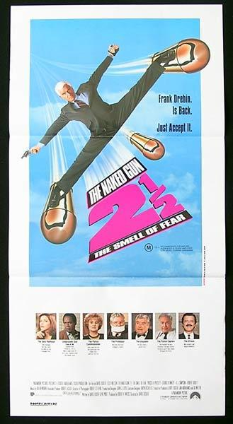 NAKED GUN 2 and a HALF Original Daybill Movie Poster Leslie Nielsen Priscilla Presley