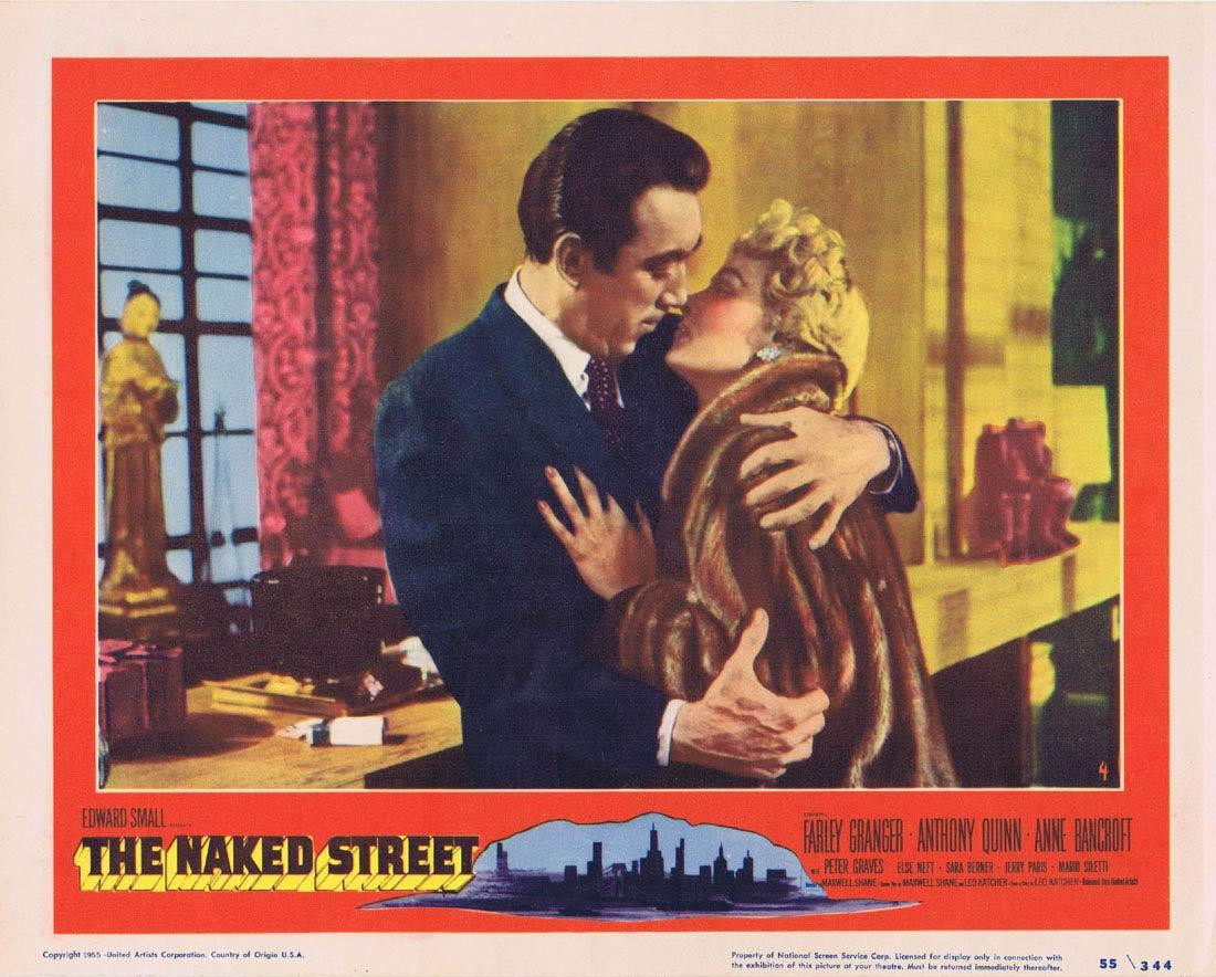 THE NAKED STREET Lobby Card 4 Farley Granger Anthony Quinn Anne Bancroft