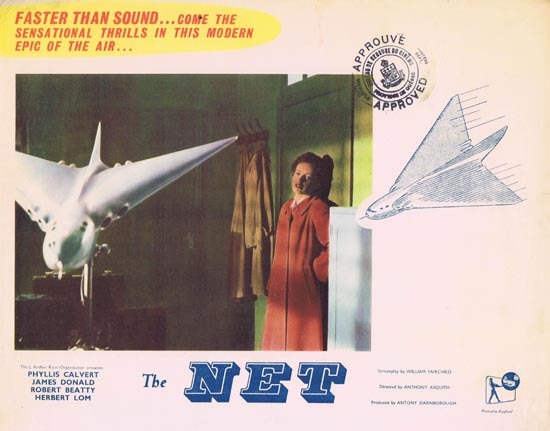 THE NET 1953 Phyllis Calvert Lobby Card 2