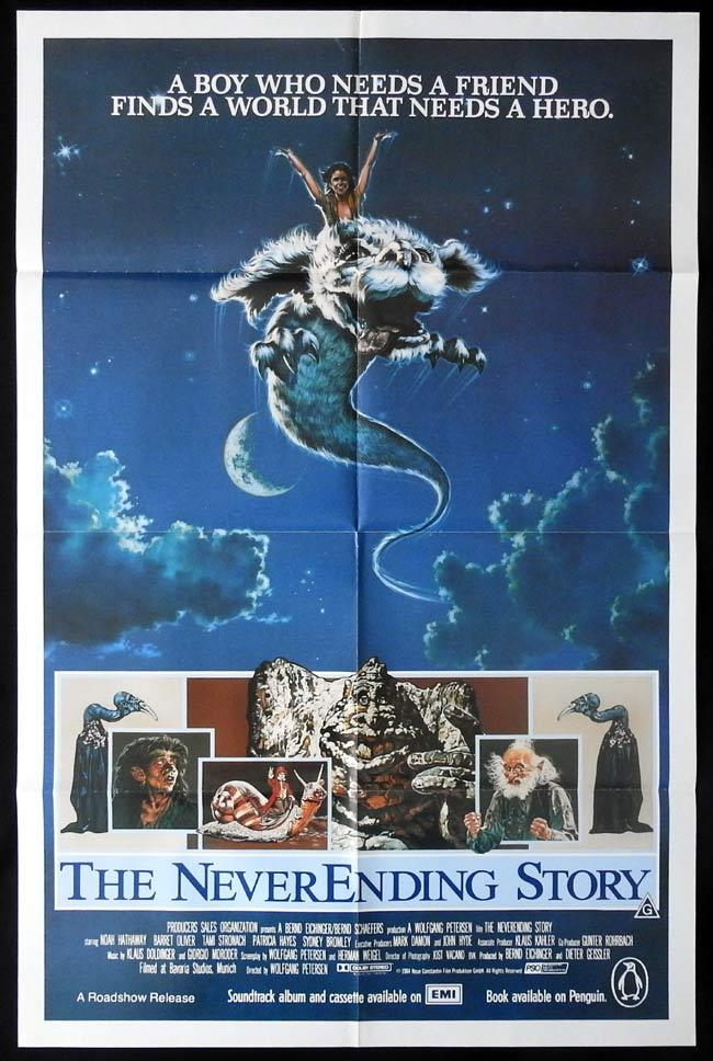 THE NEVER ENDING STORY Original One sheet Movie Poster Wolfgang Petersen