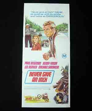 NEVER GIVE AN INCH-Paul Newman-Fonda-daybill