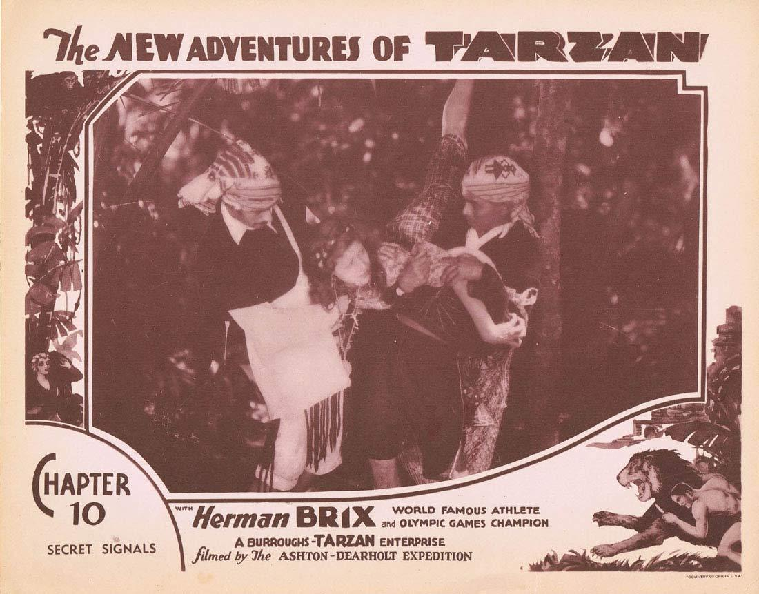 NEW ADVENTURES OF TARZAN 1935 Chapter 10 Lobby Card 3 Herman Brix Vintage Serial