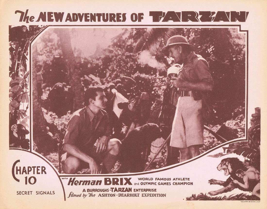 NEW ADVENTURES OF TARZAN 1935 Chapter 10 Lobby Card 7 Herman Brix Vintage Serial