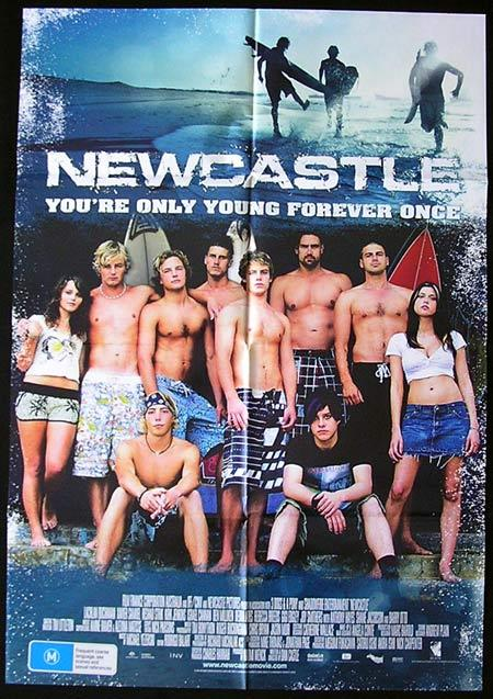 NEWCASTLE Movie Poster 2008 Surfing Australian One sheet - Newcastle (2008)