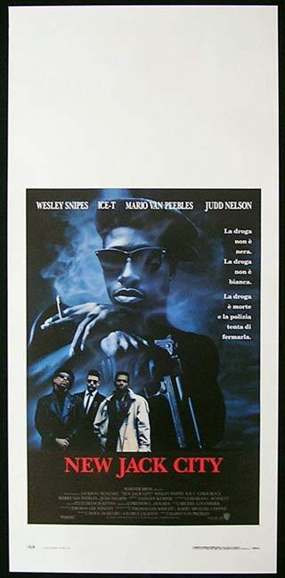 NEW JACK CITY Italian Locandina Movie Poster Wesley Snipes