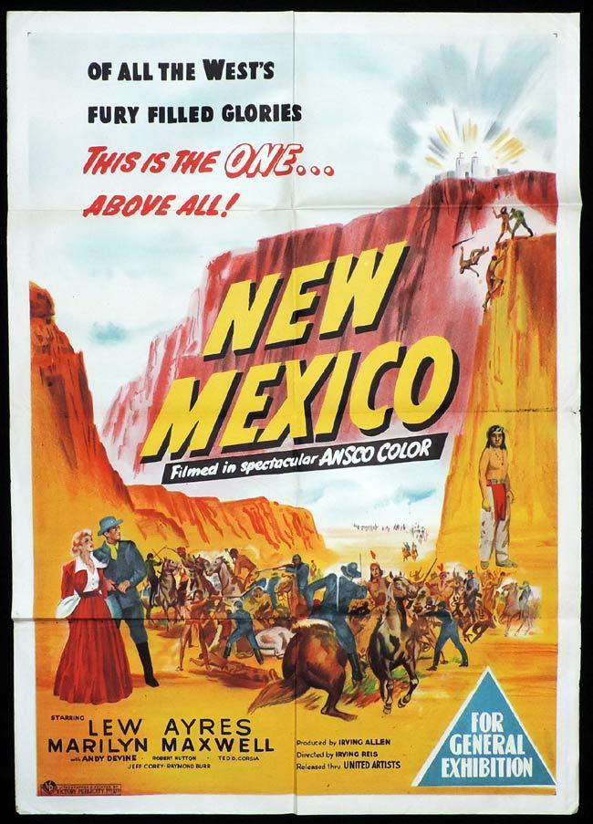 NEW MEXICO Original One sheet Movie Poster Lew Ayres