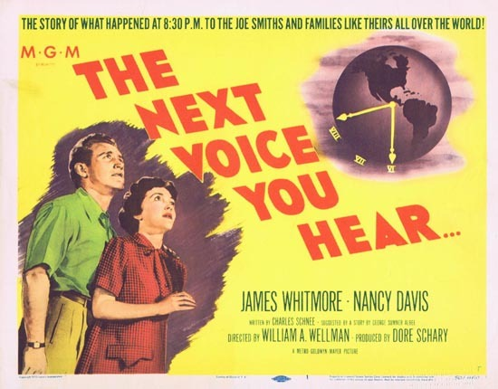 NEXT VOICE YOU HEAR, The '50 Nancy Davis Reagan Title Lobby Card