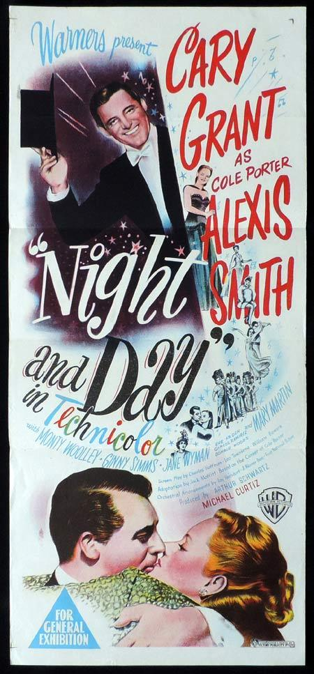 NIGHT AND DAY Original Daybill Movie Poster Cary Grant Cole Porter